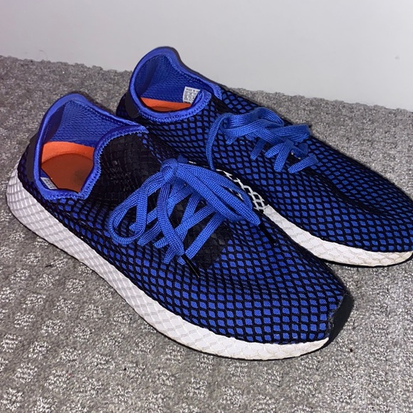 Blue and black Mesh Adida Shoes